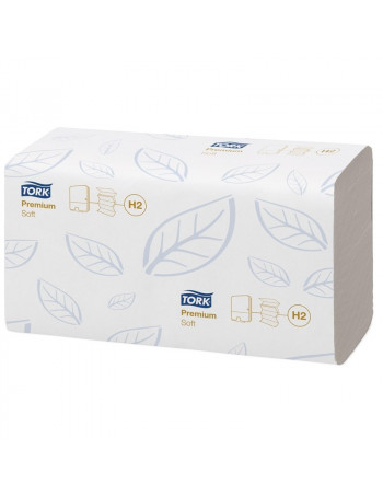 Papirhåndklæde Tork Xpress H2 Prem 2-lags M-fold 2310st/krt