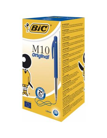 Kuglepen Bic Clic blå Medium M10 50stk/pak