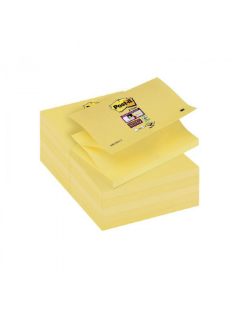 Post-it blok 654 gul 76x76mm 100bl 3M