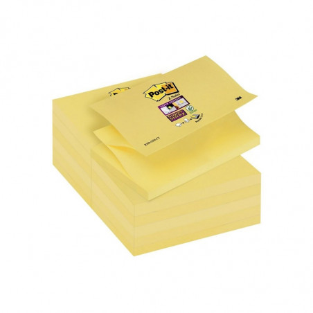 Post-it blok 654 gul 76x76mm 100bl 3M 12stk/pak