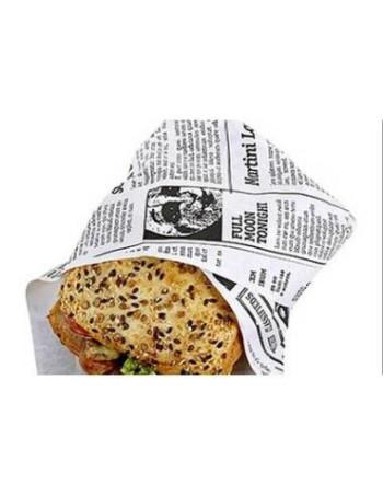 Sandwichpapir Old News 38x50cm 1000stk/kar