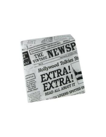 Burgerlomme m/PE Old News  (15x16cm)