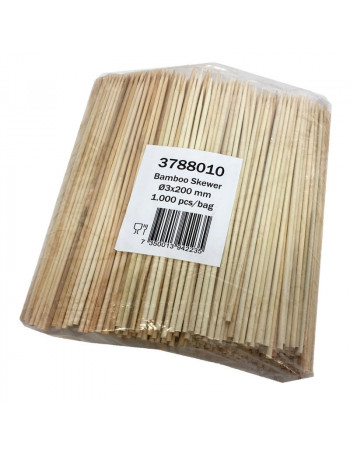 Grill Spyd bambus 20cm 1000stk/pk