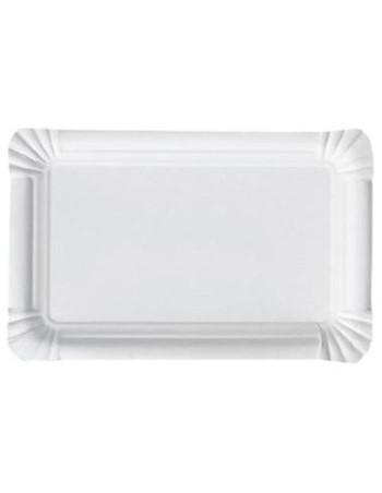 Pølsebakke 20x13cm hvid pap 500stk/pak