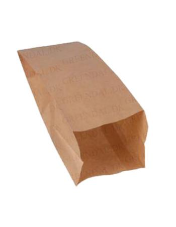 Flutes-Sandwichpose brun uden tryk pak.