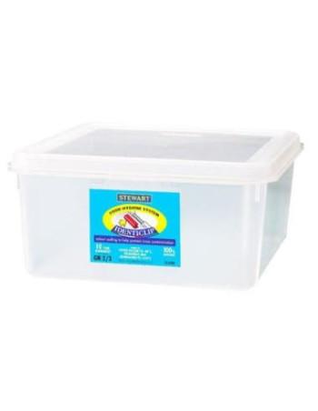 Container plast til fødevarer 2/3 GN. Inkl. Låg