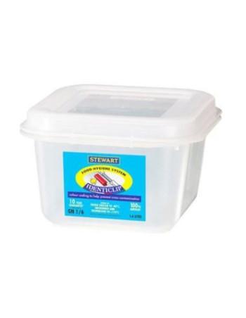 Container plast til fødevarer 1/6 GN. Inkl. Låg