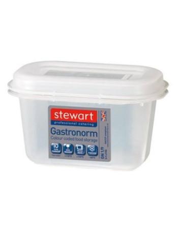 Container plast til fødevarer 1/9 GN. Inkl. Låg