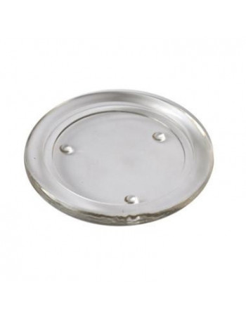 Lysplatte glas Ø80mm 12stk/kar
