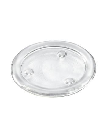 Lysplatte glas Ø110mm 10stk/kar