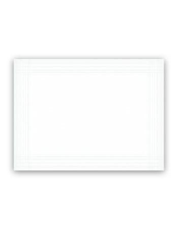 Dækkeservietter Dunicel hvid 30x40cm