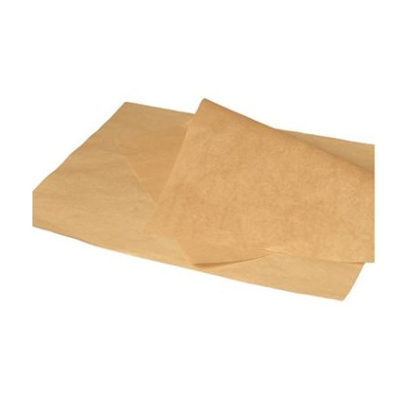 Burgerpapir greaseproof brun 300x400mm