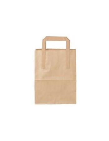 Bærepose papir med hank 6L brun