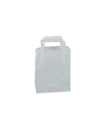 Bærepose papir med hank 6 L hvid