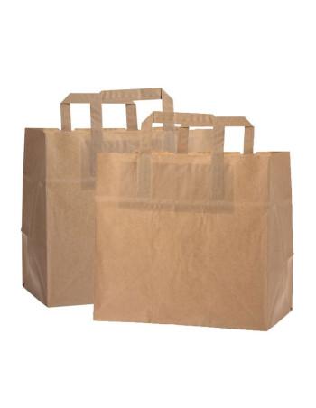Bærepose papir 11L brun 250stk/pk -