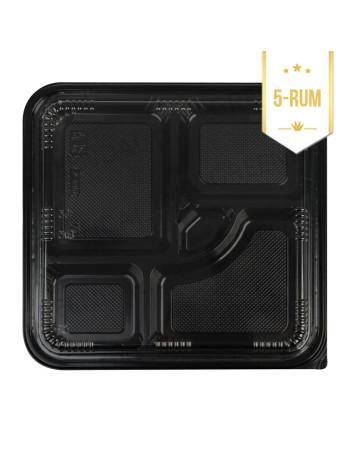 Sushi / Bento bakke 5-rums 200stk/krt -