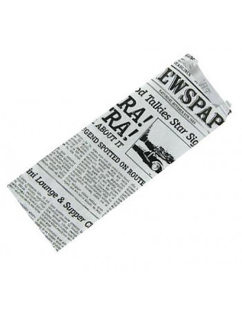 Fransk Hotdog Pose old news avis -