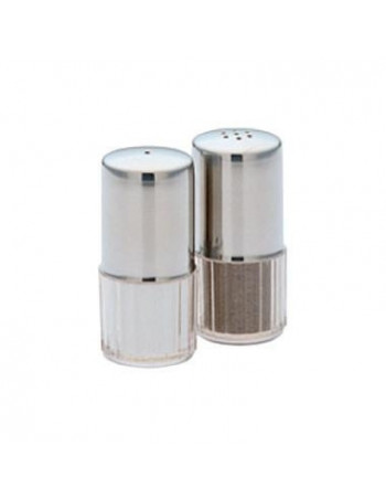 Salt og peber strøer sæt H6 cm. Plast