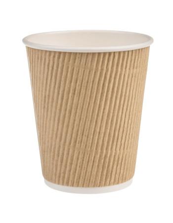 Kaffebæger 25cl (8oz) Ripple Brun 20x25stk/kar