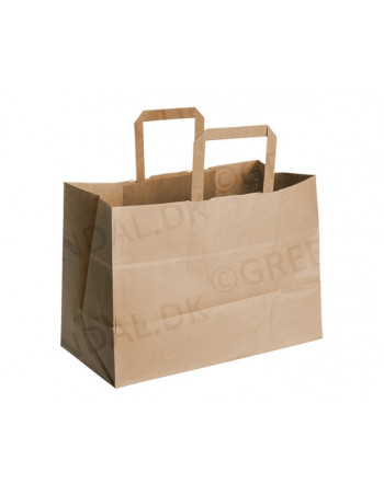 Bærepose papir 17L brun 250stk/pk -