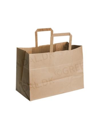 Bærepose Papir 17L Brun 250stk/kar -