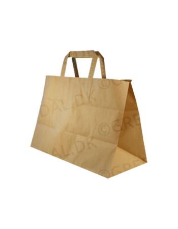 Bærepose papir 17L brun