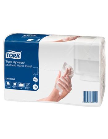 Papirhåndklæde Tork Xpress H2 Univ. 2lag 3800stk/kar