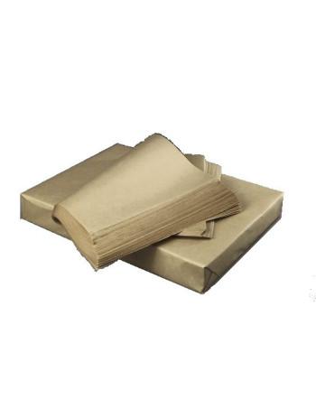 Kraftpapir brun rib. t/Burger el. Sandwich 1000stk/pak -