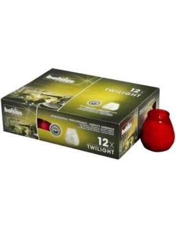 Lysbowle rød 70 timer  12stk/pak
