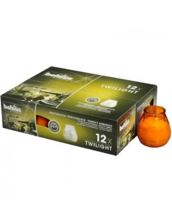 Lysbowle orange 70 timer 12stk/pak