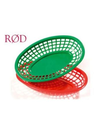 Kurv oval 23.5x14.9x5.08cm PE Rød -