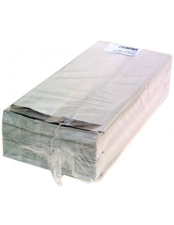 Grillposer hvid m/invendig alufolie 250stk/pak