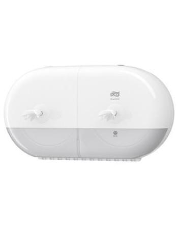 Dispenser Tork toiletpapir SmartOne T9 twin Hvid -