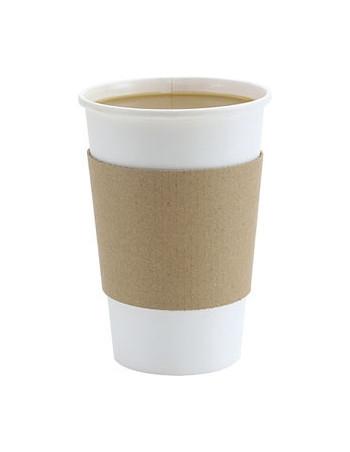 Manchet lille pap Brun sleeve 25cl (8oz) kaffebæger