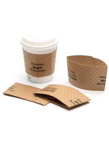 Manchet lille pap Brun sleeve 25cl (8oz) kaffebæger -