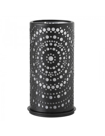 Lysestage t/LED metal 140x75mm Billy Sort 4stk/pk