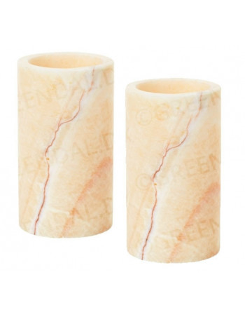 Lysestage t/led stone 125x70mm - Mineral Onyx