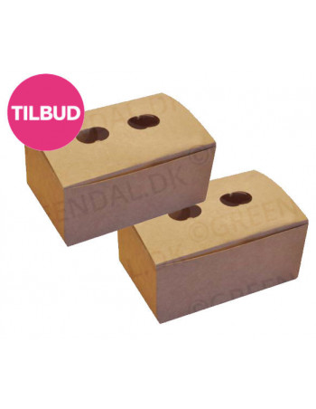 Pommes Frites boks med låg Kraft brun/hvid