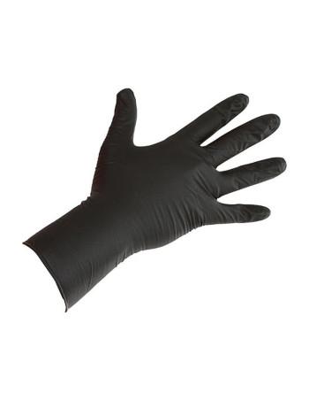 Handsker Nitril  Sort 100stk/pk