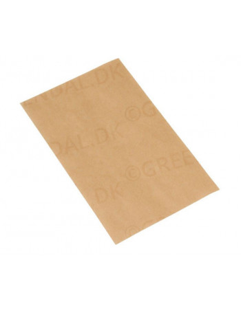 Pølsepapir Brun u. tryk 125X200mm 1000stk