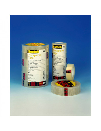 Tape Scotch kontortape 550 transparent 15mmx66m