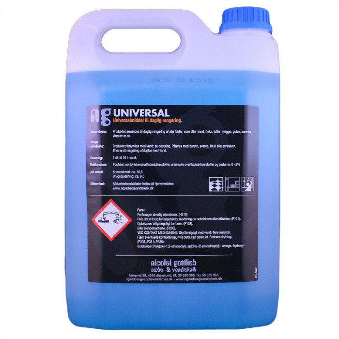 Universalrens NG m/ duft 5L -