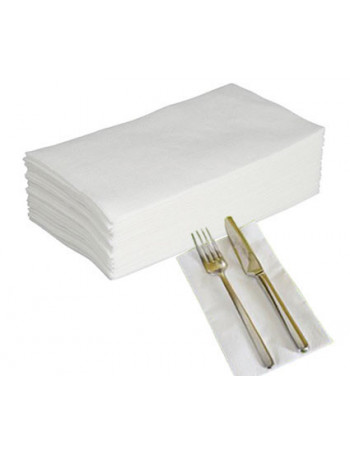 Serviet Art 40x40cm 3-lags 1/8 fold hvid 6x200stk/kar