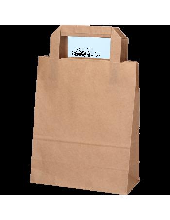 Papirsbærepose Take-away brun 6L 18x10,5x23cm