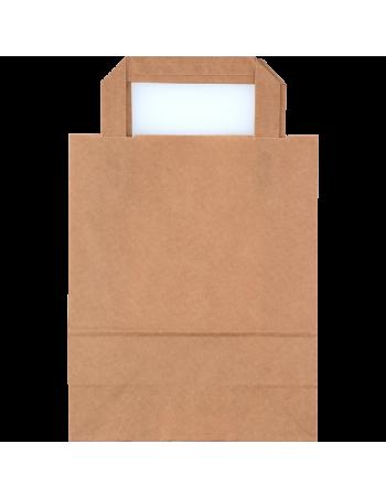 Papirsbærepose Take-away brun 6L 18x10,5x23cm -