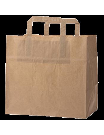 Papirsbærepose Take-away brun 11L 25x17x25cm