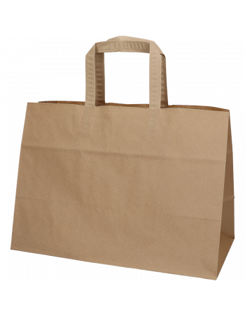 Papirsbærepose Take-away brun 17L 35x17x24,5cm