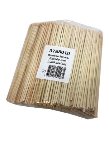 GrillSpyd bambus 25cm 1000stk/pak -