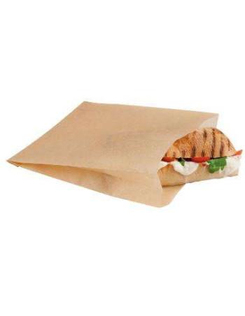 Sandwichpose 170x195 mm til Ovn Papir Brun krt.