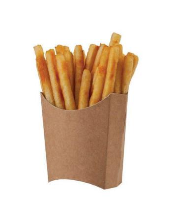 Pommes fritesbakke Stor  kraft brun medi.  1000stk/pak